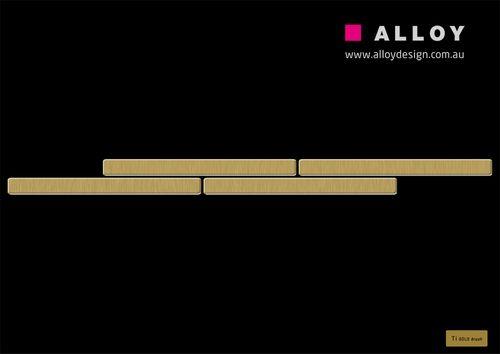 Mosaik MUSTER S-Avenue-Ti-GB | Kollektion Avenue Titan Gold gebürstet – Bild 2