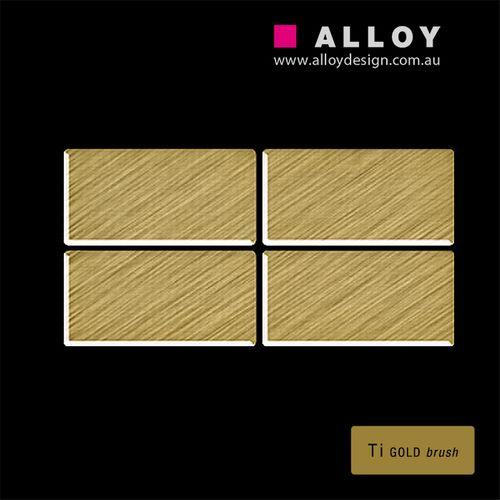 Mosaïque ÉCHANTILLON S-Bauhaus-Ti-GB | Collection Bauhaus Titane Gold brossé – Bild 3