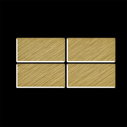 Mosaïque ÉCHANTILLON S-Bauhaus-Ti-GB | Collection Bauhaus Titane Gold brossé – Bild 4