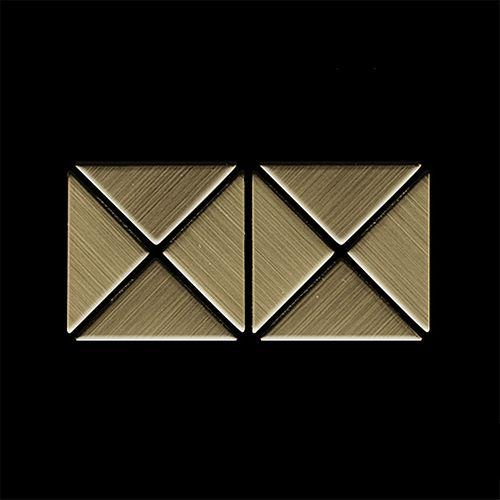 MUESTRA Mosaico S-Deco-Ti-GB | Colección Deco Titanio Gold cepillado – Imagen 4