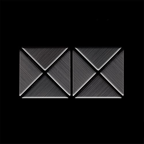 MUESTRA Mosaico S-Deco-Ti-SB | Colección Deco Titanio Smoke cepillado – Imagen 4