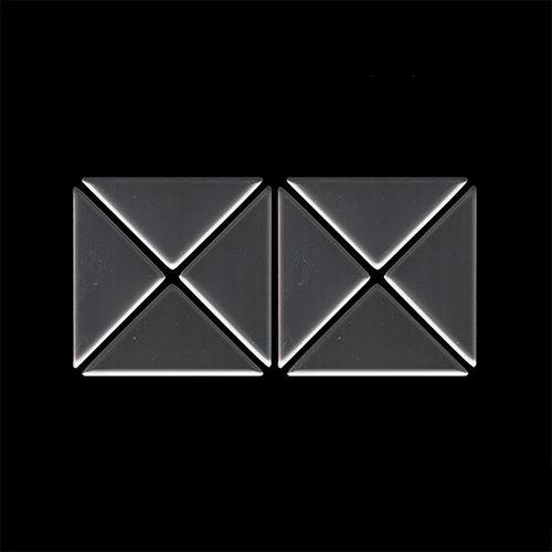 MUESTRA Mosaico S-Deco-Ti-SM | Colección Deco Titanio Smoke pulido espejo – Imagen 4