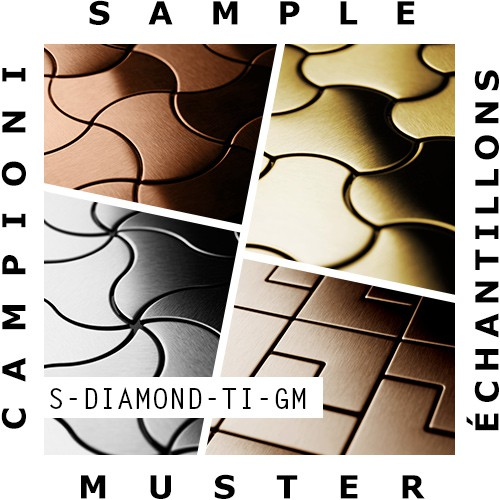 Mosaïque ÉCHANTILLON S-Diamond-Ti-GM | Collection Diamond Titane Gold miroir – Bild 1