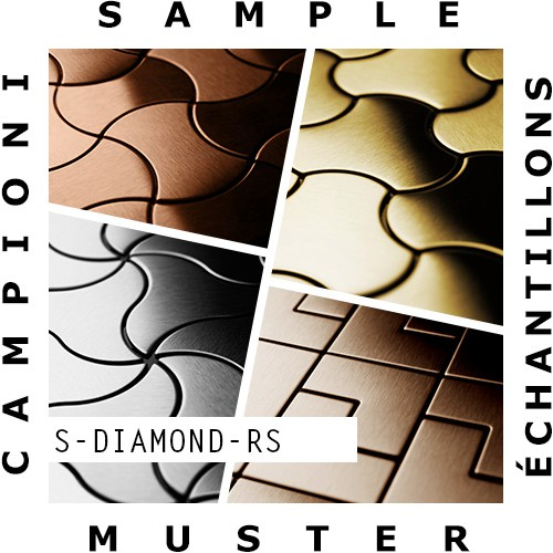 Mosaïque ÉCHANTILLON S-Diamond-RS | Collection Diamond acier