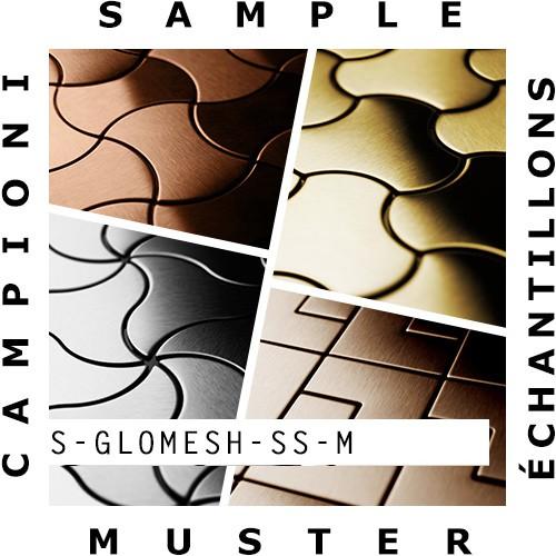 MUESTRA Mosaico S-Glomesh-S-S-M | Colección Glomesh Acero inoxidable pulido espejo – Imagen 2