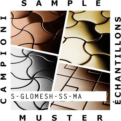 Mosaik MUSTER S-Glomesh-S-S-MA | Kollektion Glomesh Edelstahl matt – Bild 2