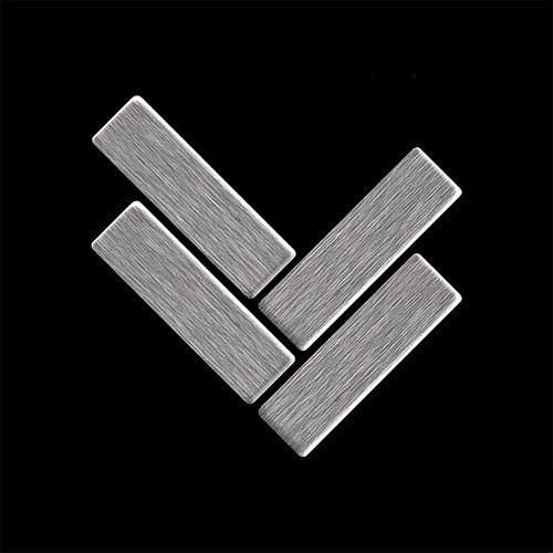 Mosaik MUSTER S-Herringbone-S-S-B | Kollektion Herringbone Edelstahl gebürstet – Bild 4