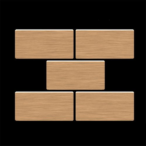 ITEM SAMPLE Mosaic S-House-Ti-AB | House Titanium Amber brushed – Bild 4