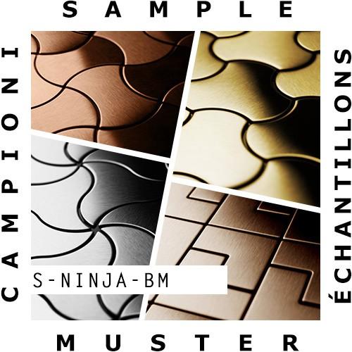MUESTRA Mosaico S-Ninja-BM | Colección Ninja Latón laminado