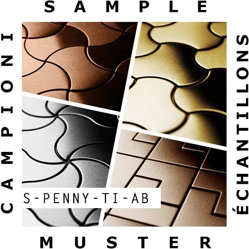 Mosaïque ÉCHANTILLON S-Penny-Ti-AB | Collection Penny Titane Amber brossé