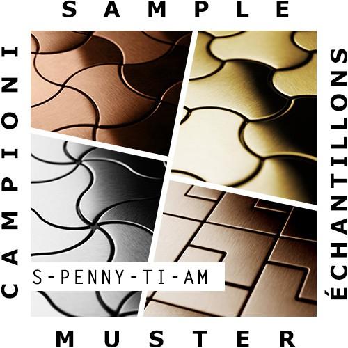 Mosaïque ÉCHANTILLON S-Penny-Ti-AM | Collection Penny Titane Amber miroir – Bild 2