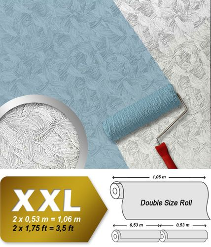 Wall covering non-woven EDEM 322-60 Wallpaper wall paintable XXL creative stucco textured white  – Bild 1