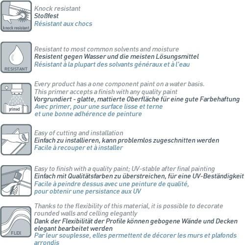 Wandleiste Stuck Orac Decor P7070F LUXXUS flexible Wandprofil Profil Friesleiste Dekor Leiste Zierleiste Wand | 2 Meter – Bild 2