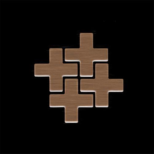 MUESTRA Mosaico S-Swiss Cross-Ti-AB | Colección Swiss Cross Titanio Amber cepillado – Imagen 4