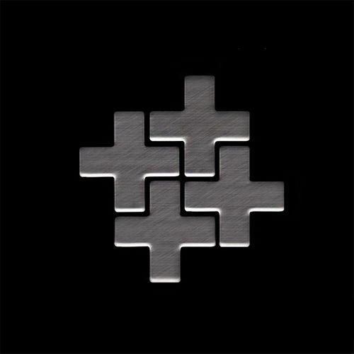 MUESTRA Mosaico S-Swiss Cross-Ti-SB | Colección Swiss Cross Titanio Smoke cepillado – Imagen 4