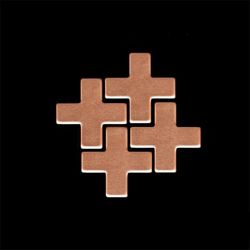 MUESTRA Mosaico S-Swiss Cross-CM | Colección Swiss Cross Cobre laminado – Imagen 4