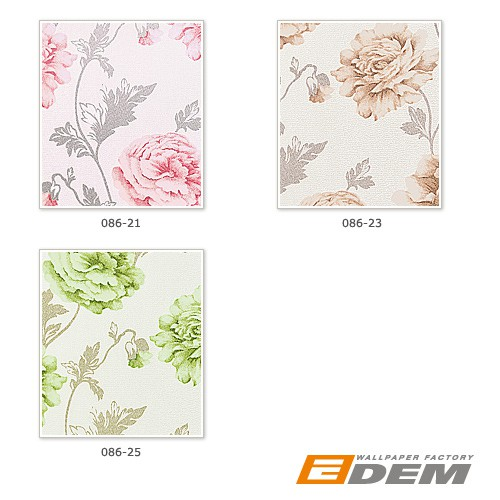 Romantic wall covering flower floral vinyl wallpaper EDEM 086-23 roses blossoms textured beige light brown – Bild 5