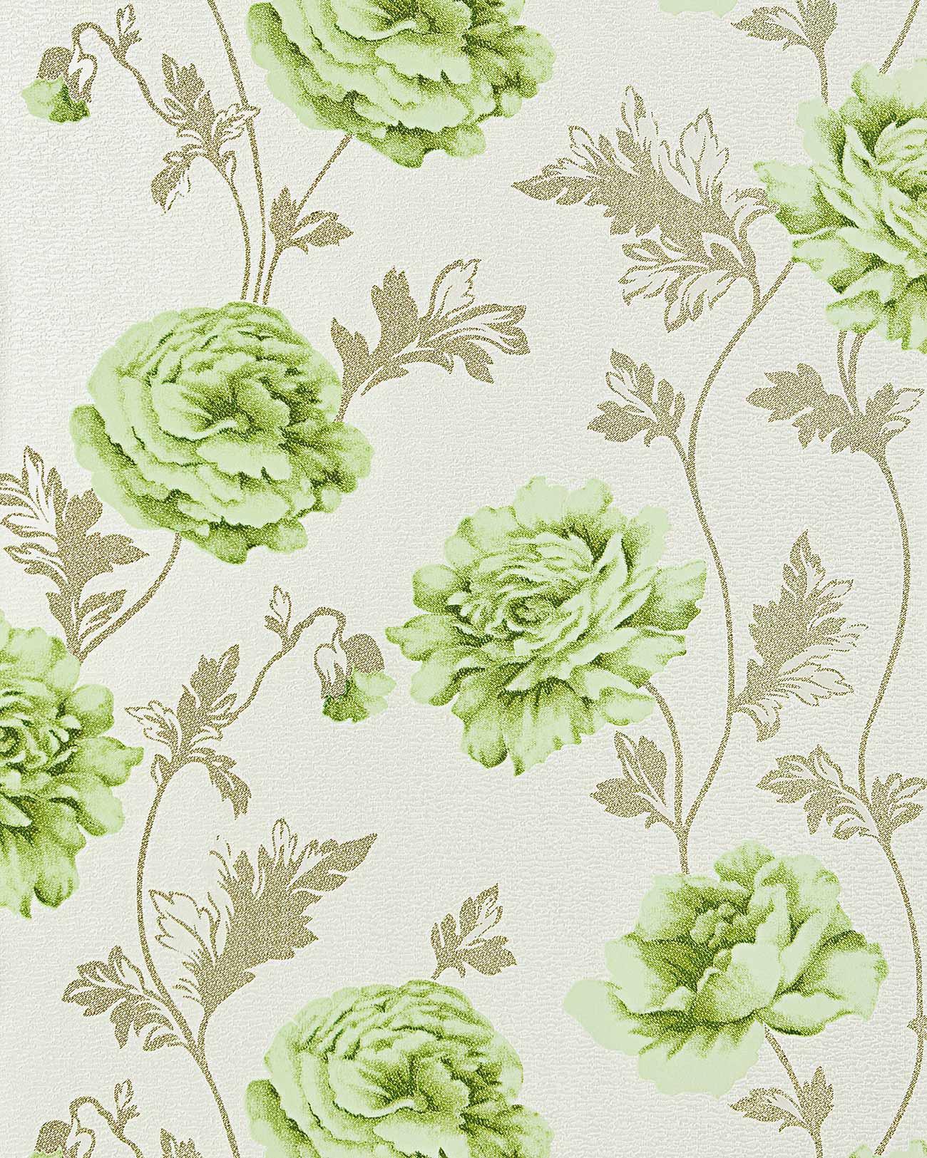 Bloemen behang landhuisstijl edem 086 25 romantiek behang for Structuur behang