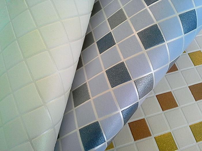 Behang design tegel mozaïek edem structuur vinylbehang
