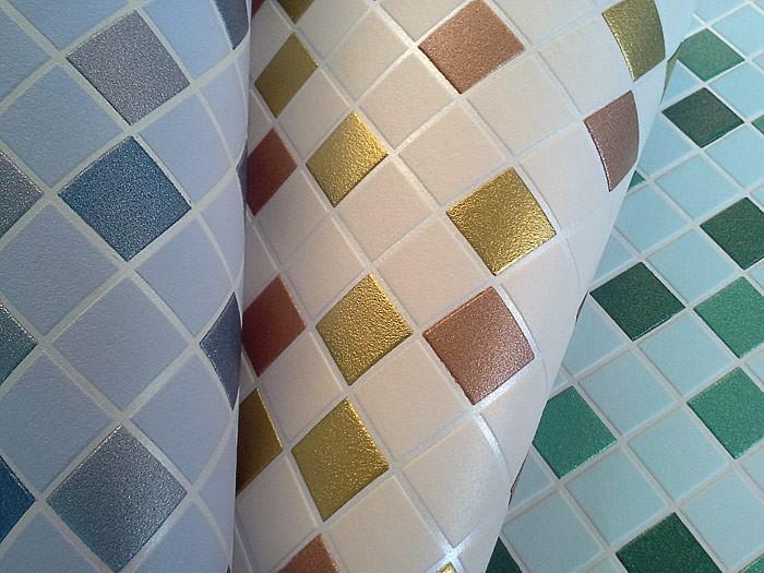 Behang design tegel mozaïek edem 1022 13 structuur vinylbehang ...