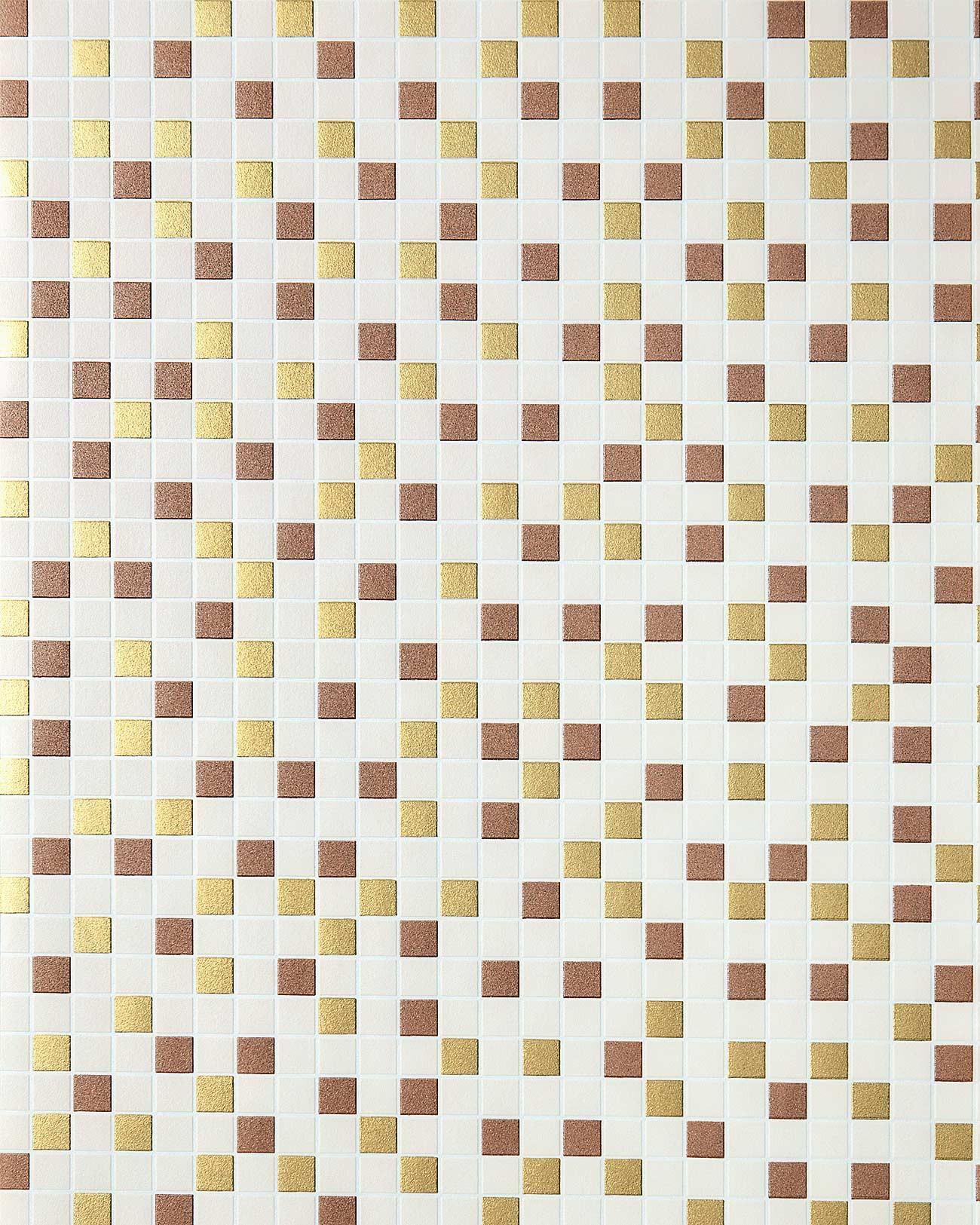 behang design tegel mozaïek edem  structuur vinylbehang, Meubels Ideeën