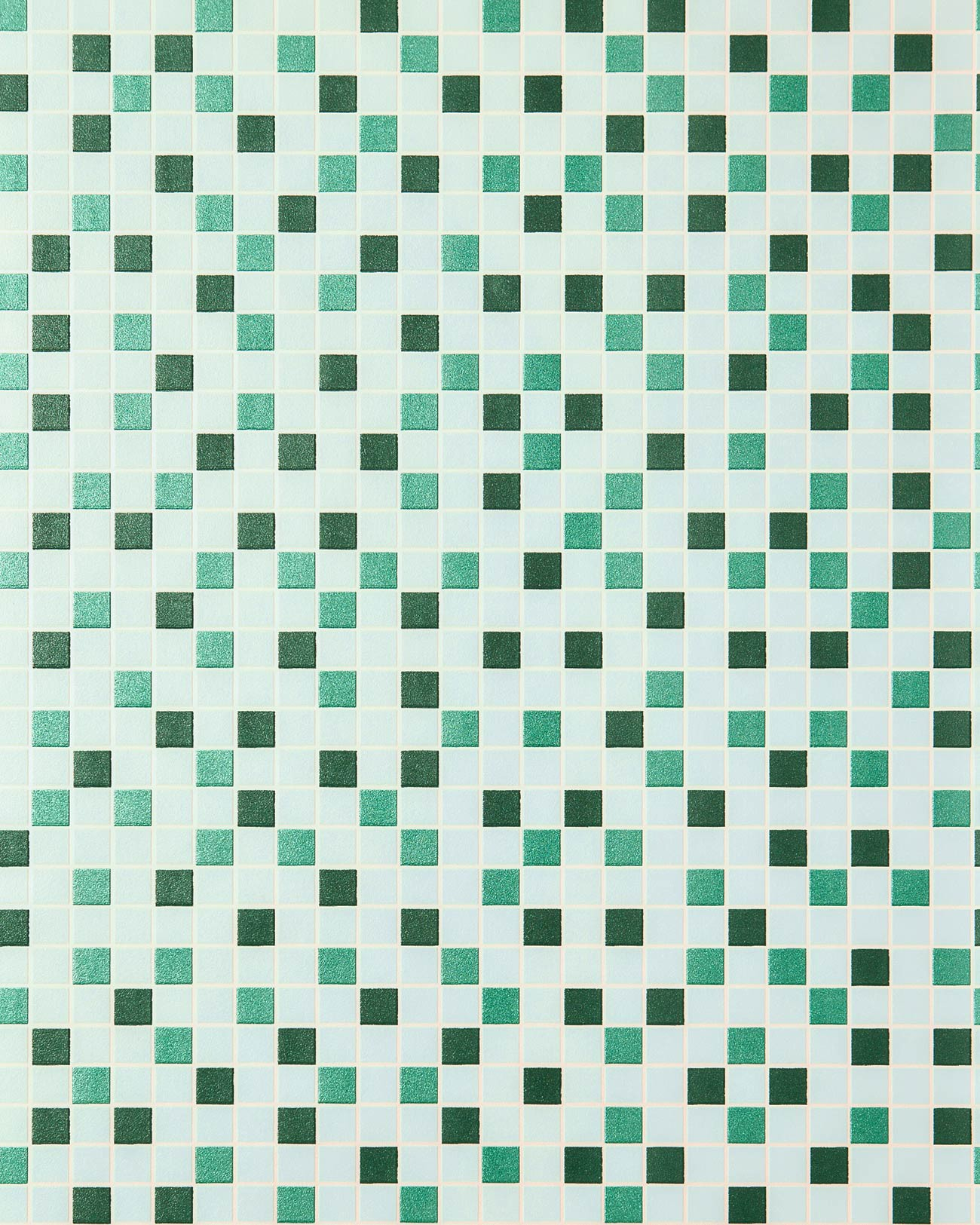 Vinyl Mosaic Wallpaper Tile Stone Decor Wallcovering EDEM 1022 15 Embossed Texture Mint Green Turquoise Emerald Silver