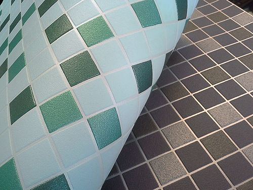Vinyl mosaic wallpaper tile stone decor wallcovering EDEM 1022-15 embossed texture mint green turquoise emerald silver – Bild 2