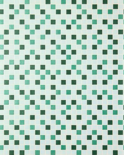 Vinyl mosaic wallpaper tile stone decor wallcovering EDEM 1022-15 embossed texture mint green turquoise emerald silver – Bild 1
