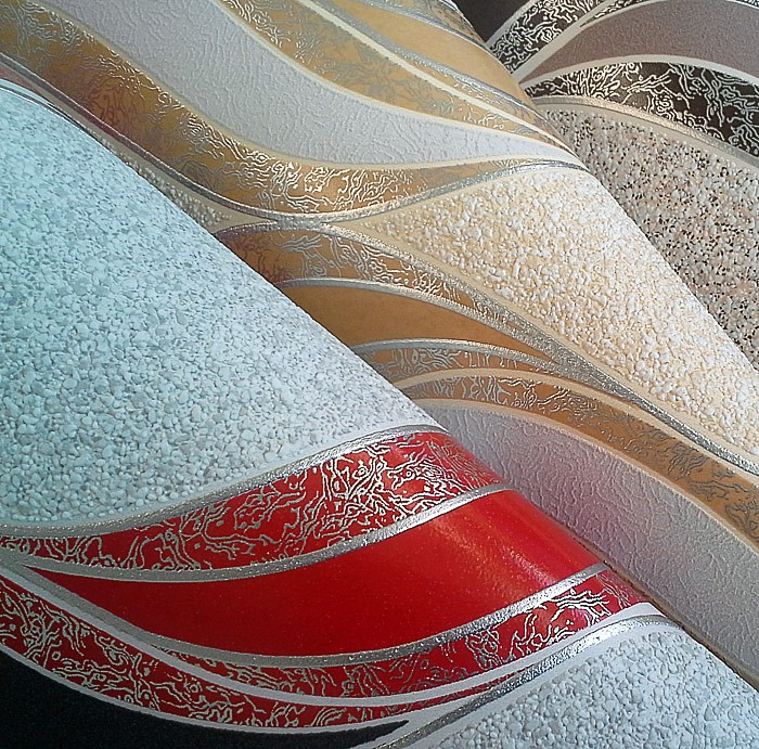 Textured Vinyl Wallcovering Graphic Pattern Wallpaper Edem 1025 11