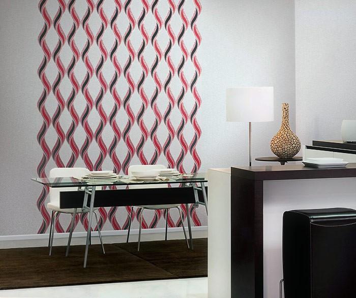 papier peint graphique edem 1025 16 aspect cr pi granit mouchet lignes ondul es et ornements. Black Bedroom Furniture Sets. Home Design Ideas