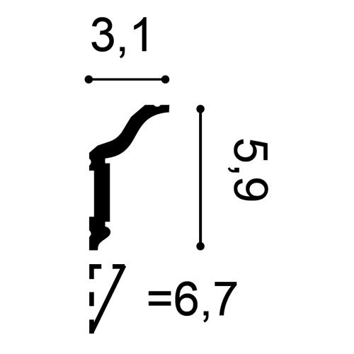 Deckenleiste CX141 2m – Bild 2