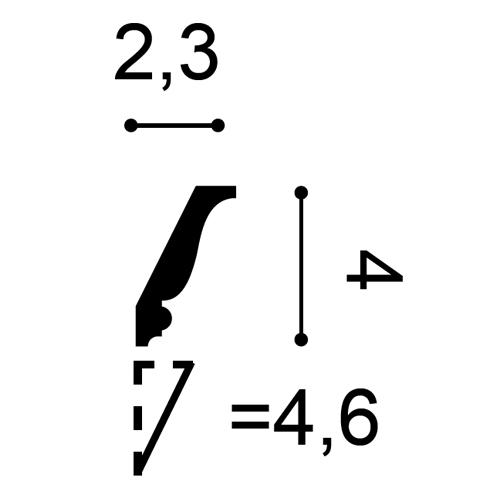 Deckenleiste CX153 2m – Bild 2