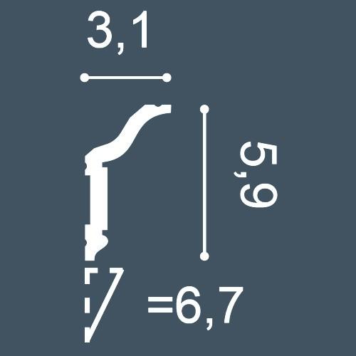 MUSTER Stückleiste Musterstück CX141 – Bild 4
