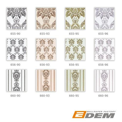 3D Barock Tapete Streifen XXL Vliestapete EDEM 660-95 Elegantes Barockmuster Textil-Optik grün gold creme hellbraun 10,65 m2 – Bild 4