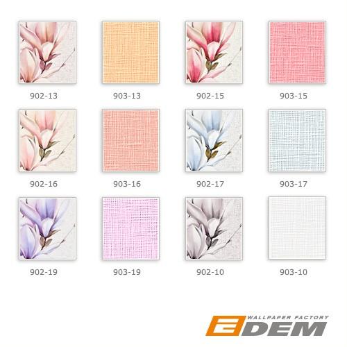 Carta da parati TNT stile country XXL EDEM 902-13 disegno rustico floreale aspetto tessuto rosa rosa antico crema pesca 10,65 m2 – Bild 4