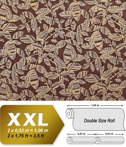 blumen tapete xxl vliestapete edem 923 36 elegantes florales design muster metallic effekt braun. Black Bedroom Furniture Sets. Home Design Ideas