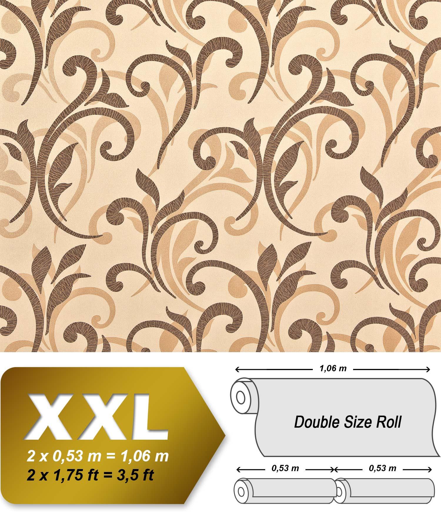 blumen tapete xxl vliestapete edem 928 26 abstraktes. Black Bedroom Furniture Sets. Home Design Ideas