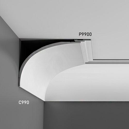 Wandleiste Stuck Orac Decor P9900 LUXXUS Stuck Leiste Friesleiste Rahmen Dekor Profil Zierleiste stoßfest | 2 Meter – Bild 3