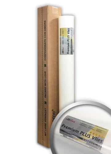 Armierungsvlies Profi-Renoviervlies 160 g Profhome PremiumVlies PLUS rissüberbrückende überstreichbare Vliestapete weiß | 25 m2 Rolle – Bild 1