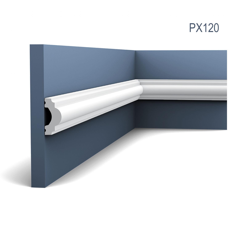 2 Meter Profilleiste Friesleiste Stuck PX120 AXXENT Wandleiste Zierleiste profil Wand Rahmen Dekor Element