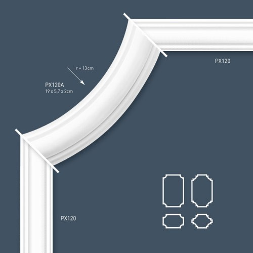Stucco Orac Decor PX120 AXXENT Decoration for wall and ceiling 2 m panel moulding cornice moulding – Bild 3
