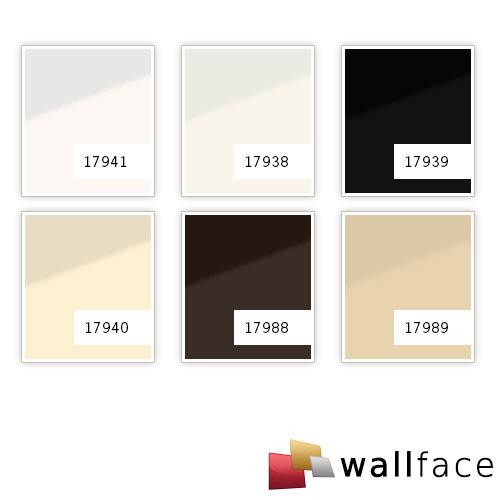Panneau mural aspect verre WallFace 17940 UNI MAGNOLIA revêtement mural autoadhésif beige crème 2.60 m2  – Bild 2