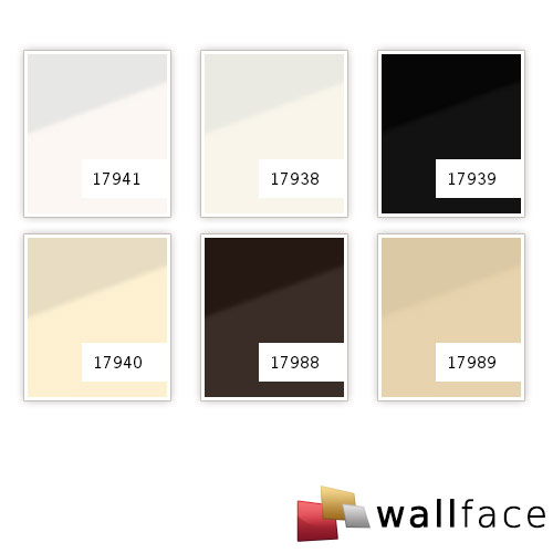 Wall Panel self-adhesive Glass look WallFace 17988 UNI MOCCA Luxury Panel brown | 2,60 m2 – Bild 2