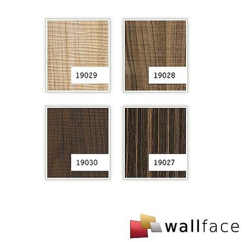 Pannello murale aspetto legno WallFace 19030 NUTWOOD noce legno decorativo tattilità verosimile rivestimento murale autoadesivo marrone scuro 2,60 mq – Bild 3