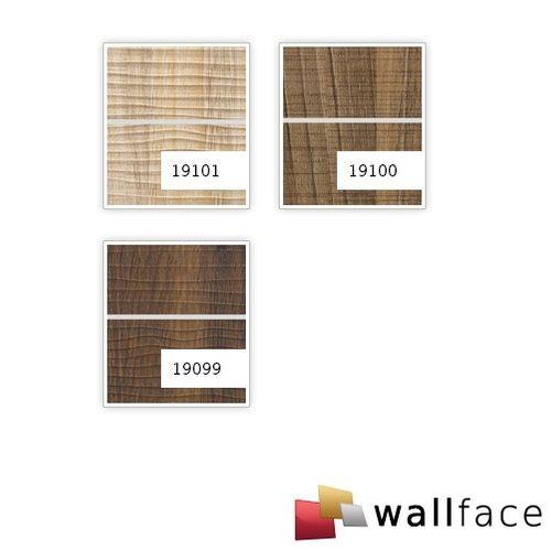 Rivestimento murale aspetto legno WallFace 19101 MAPLE ALPINE 8L acero decorativo metallo lesene spazzolato pannello murale autoadesivo marrone chiaro 2,60 mq – Bild 3