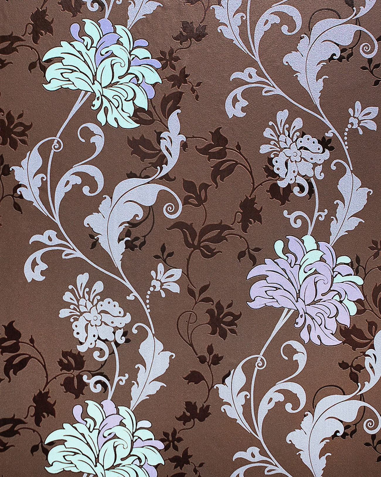 blumen tapete edem 833 26 edles florales design bl ten bl tter blumentapete braun flieder. Black Bedroom Furniture Sets. Home Design Ideas