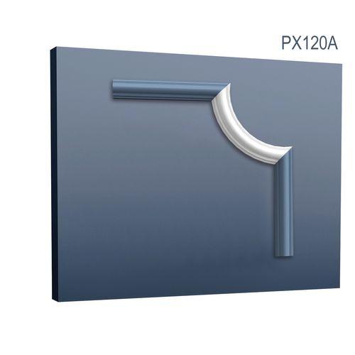 Eckelement Eckstück Orac Decor PX120A AXXENT Dekorelement Rahmen Profil für Wand Friesleiste Zierleiste PX120 | 19 cm – Bild 1