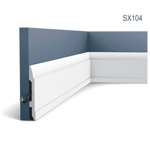 Stuck Sockelleiste Orac Decor SX104 LUXXUS Fußleiste Zier Profil Kabelschutz Leiste Bodenleiste stoßfest   2 Meter – Bild 1