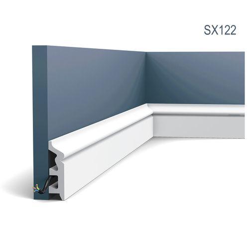 Multifunctioneel stootvast Plint Origineel Orac Decor SX122 AXXENT Kabelduct Sierlijst Kabelkanaal oerdegelijk 2 m – Bild 1
