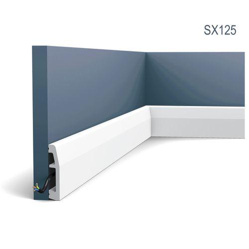 Multifunctioneel stootvast Plint Origineel Orac Decor SX125 AXXENT Kabelduct Sierlijst Kabelkanaal oerdegelijk 2 m – Bild 1